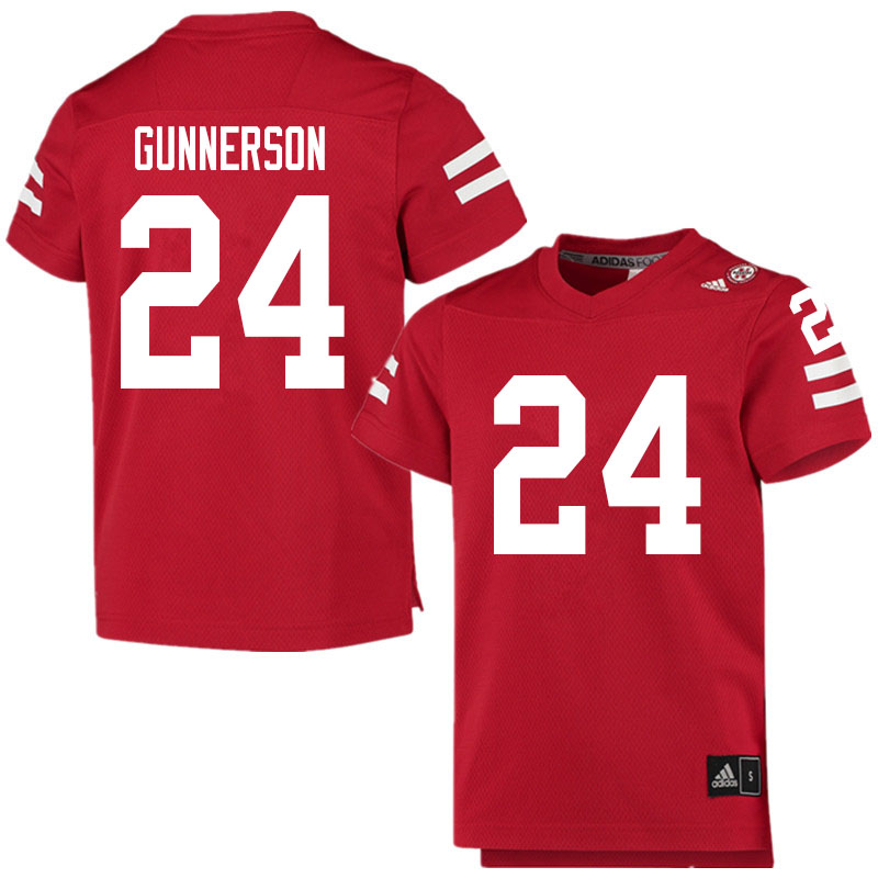 Men #24 Blaise Gunnerson Nebraska Cornhuskers College Football Jerseys Sale-Scarlet